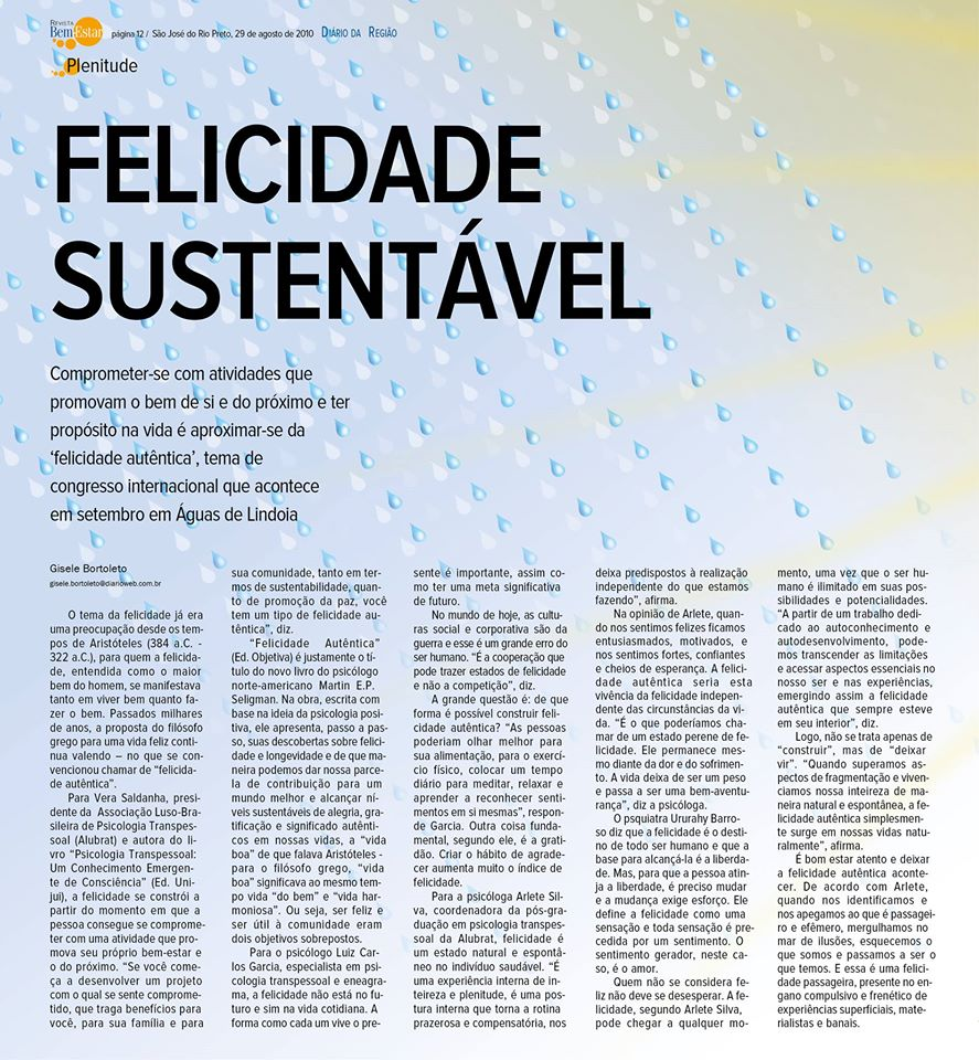 FELICIDADE SUSTENTÁVEL